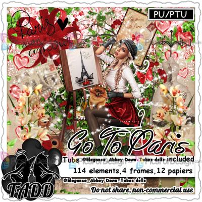 Go to Paris - Illustration store PicsForDesign com  PSP